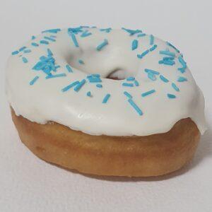 Донат пончик с голубым декором