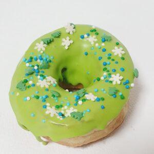 Зелёный донат пончик к рождеству